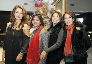 12012017 ENTRE AMIGAS.  Betty, Perla, Mary Cruz y Paty.