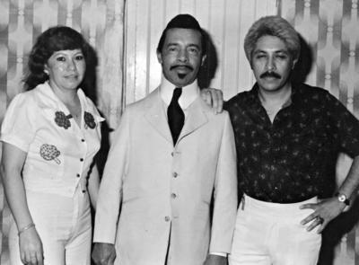15012017 Lita y Daniel con Dámaso Pérez Prado en evento en Ciudad Lerdo en 1970.