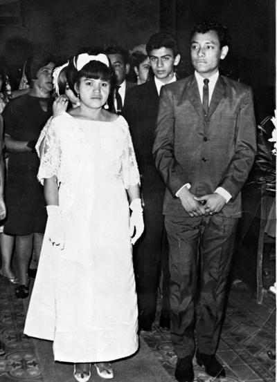 15012017 Socorro Rodríguez Ibarra y Ezequiel Romero Hernández, en 1964.