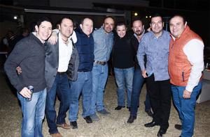 15012017 CELEBRAN SU AMISTAD.  Carlos, Salvador, Manuel, Carlos, Héctor, Fernando, Luis y Edgar.