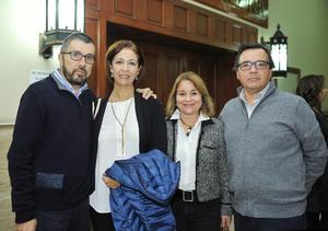 19012017 Gilberto Berlanga, María Elena Fuentes, Bertha Fuentes y Rafael Saucedo.
