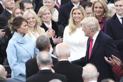 La familia Trump se mostró feliz previo a la ceremonia.