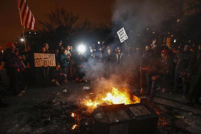 En Washington D.C. se registraron aproximadamente 100 detenidos.