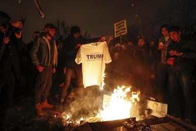 Se registraron manifestaciones en Estados Unidos en contra del presidente Donald Trump.