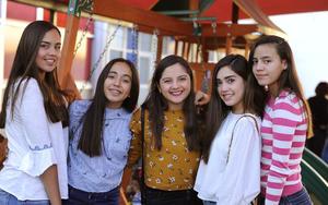 Mara Paula, Regina, Alejandra, Paulina y Romina