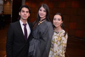 Erick, Luisa y Andrea