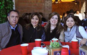 José Antonio, Lupita, Aracely y Betty