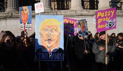 Mujeres de todo el mundo lanzaron sus exigencias a Trump.