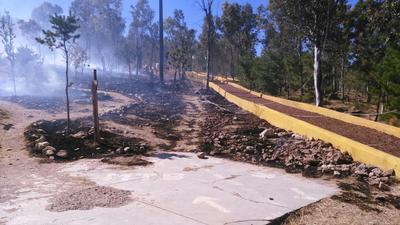 A las 12:30 horas se registró un incendio en el Parque Sahuatoba.