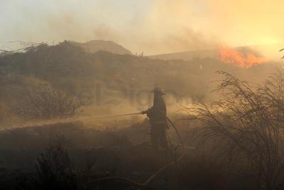 El humo y la tierra impedían la visibilidad.
