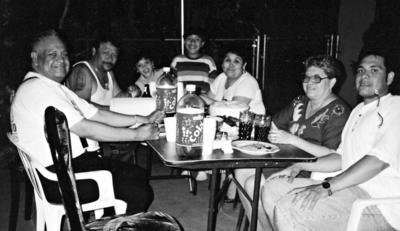 22012017 Sr. José Luis Rivera Chairez y Sra. Graciela Lara de Rivera en Los Ángeles, California, con los señores Roberto Chairez, Guadalupe R. de Chairez y Francisco Rivera Lara.