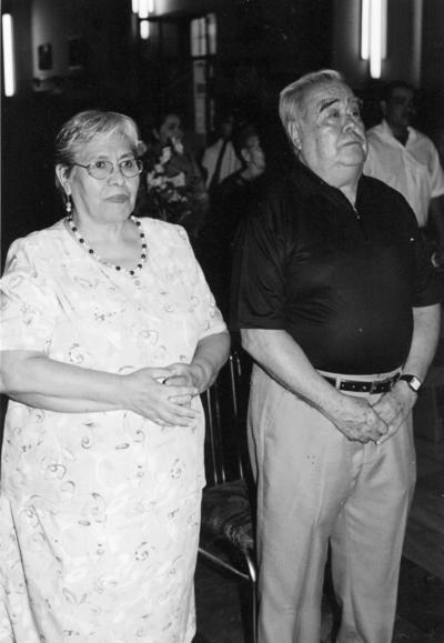 22012017 Margarita de la Cruz y José Ma. Aguayo Orona en la celebración de sus Bodas de Oro en julio.