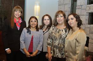 23012017 Lorena de Lara, Sandra de Nevárez, Xóchitl López, Paty Alanís y Ana Poblano.