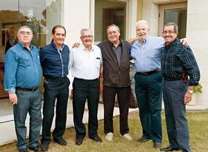 23012017 REUNIóN DE EXALUMNOS.  Pedro Fernández, Francisco Cobos, Daniel García, Martín Pérez, José A. Safa y Pedro Villa.