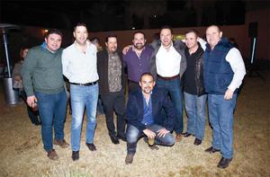 23012017 REUNIóN DE EXALUMNOS.  Daniel, Salvador, Rafael, Carlos, Juan y Rolando.