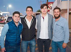 25012017 AMIGOS.  Juan Carlos, Raúl, Fernando y Juan Carlos.