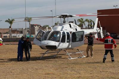 Fue en las instalaciones del Instituto Tecnológico de Durango donde aterrizó la aeronave.