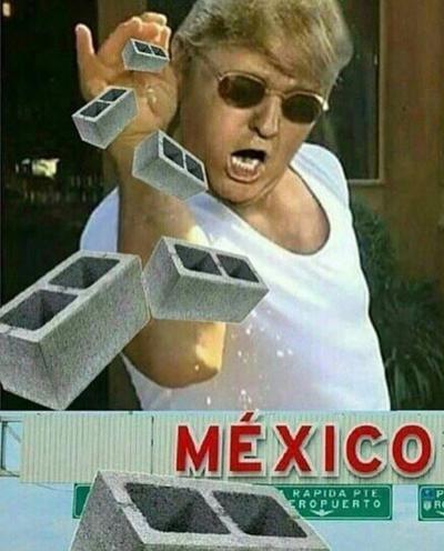 Con memes se burlan del muro