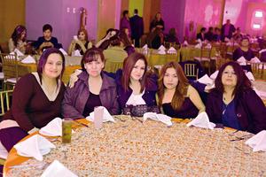 26012017 EN FESTEJO.  Elizabeth, Norma, Mary, Fabiola y Sonia.