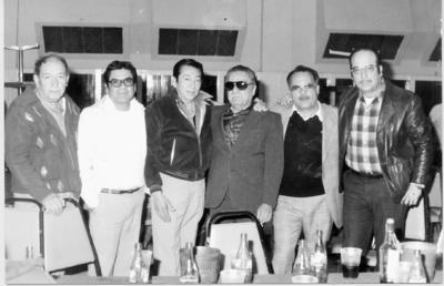 29012017 En un aniversario de jubilados del STFRM Sec. #9 de Gómez Palacio, Dgo., en 1984, se encontraban los señores: Enrique Veloz, Toño Zamora, Fausto Ramos, Efrén Camacho, Lencho García y Juan Álvarez.