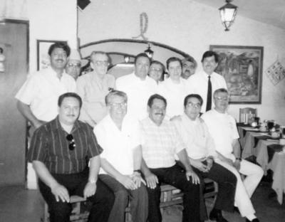 29012017 En la organización del festejo de los 50 años de la fundación de PVC en 1992: Francisco O´Relly, Carlos García, Humberto Roque, José Luis Ruiz, Sigifredo Macías, Carlos Magallanes, Pedro García, Ricardo Tea y Melchor Rodríguez.