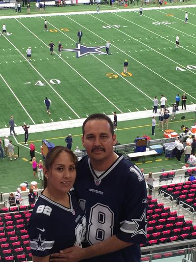 En el estadio de los Dallas Cowboys.