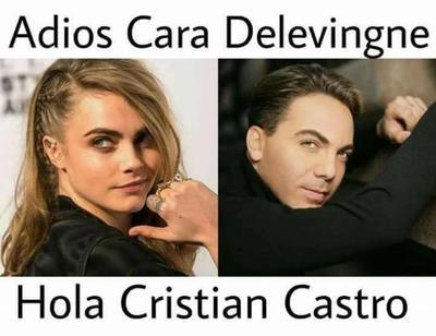 ¿Quién no preferiría ver el encantador rostro de Cristian Castro?