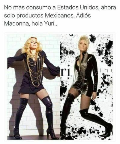En una de las comparaciones más difíciles, exhortan a abandonar a Madonna por la joya mexicana, Yuri.
