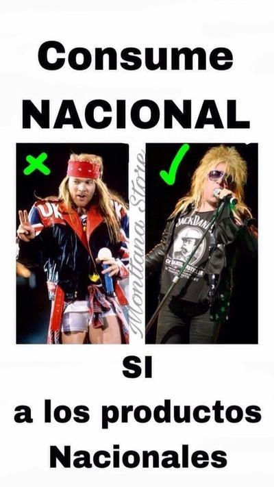 El líder de Guns N' Roses, Axl Rose, fue comparado con el mexicano Charlie Montana.