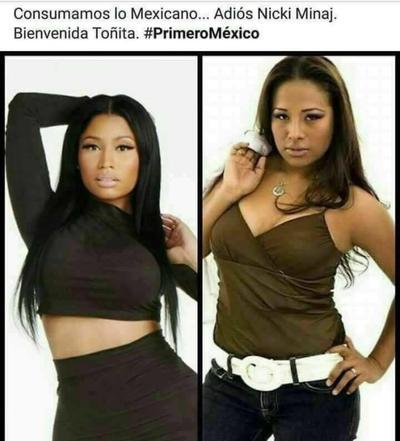 Claman por el talento regional, Toñita en lugar de Nicki Minaj.