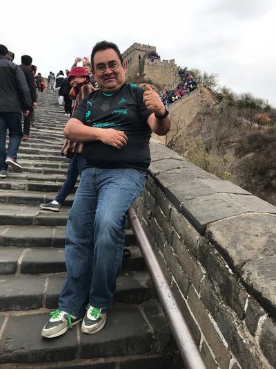 08112017 Un Guerrero no puede llegar a ser un héroe si antes no sube a La Gran Muralla. Un saludo desde La Gran Muralla en Beijing, China.