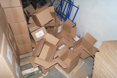 Protección Civil aseguró que el cambio de las despensas a bolsas, se debió a que las cajas venían maltratadas.