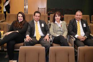 04022017 ENTREGA DE RECONOCIMIENTOS.  Daniela, Pedro, Aracely y Rogelio.