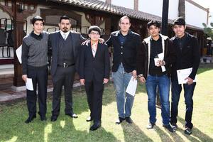 04022017 José Gabriel de Anda, Carlos Antonio Fernández, Clemente Rodríguez, Ángel Eduardo Luévanos, David Flores Lastra y Alejandro Fuentes.