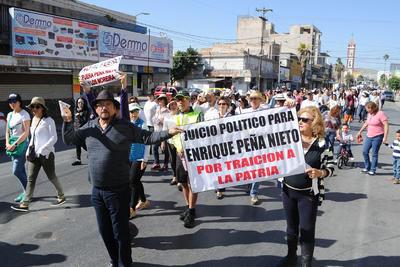 Laguneros salieron a manifestarse en contra de la impunidad y corrupción.