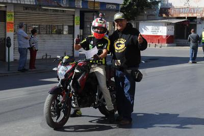 Los motociclistas recorrieron las calles de Torreón.