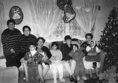 05022017 Familia Rivera Lara y Carranza Lara en diciembre de 1984.