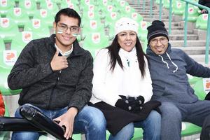 05022017 EN EL FUT.  Arturo Muñiz, Yolanda Torres y Alejandro Arias.