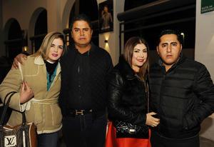 05022017 EN PAREJAS.  Elizabeth, Carlos, Rosita y Ángel.