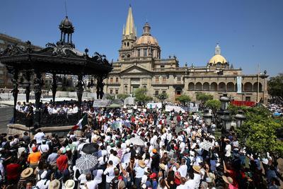 En Guadalajara, manifestantes también tomaron las calles.