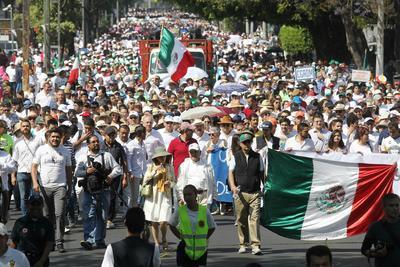 En la marcha participaron muchas familias.