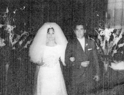 12022017 Srita. Tita Rivera Gómez y Sr. José Ortiz González el día de su boda en 1966.