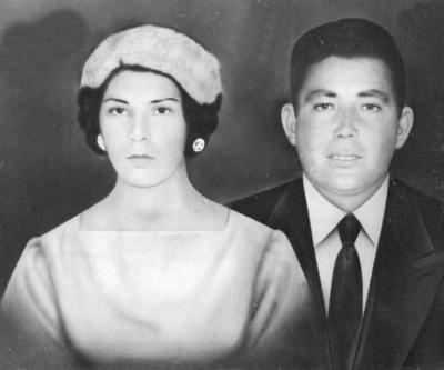 12022017 Lupita Sánchez y Salvador Carrillo Saldívar el 2 de febrero de 1955 en Fco. I. Madero, Coahuila.