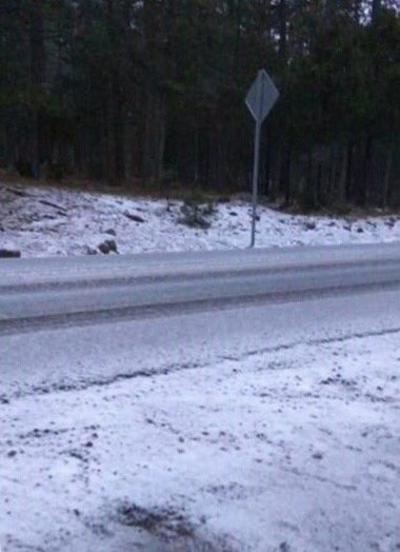 Protección Civil reporta caída de nieve en La Ciudad, Pueblo Nuevo.