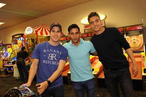 Ulises Rivas, Gael Sandoval y Carlos Acevedo