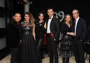20022017 ELEGANTE FESTEJO.  Rina acompañada de su esposo, Cristian Mijares, Mónica y Jared, Adriana y Manolo.