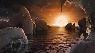 Tres de los planetas están en la llamada zona habitable, donde es posible la existencia de agua.