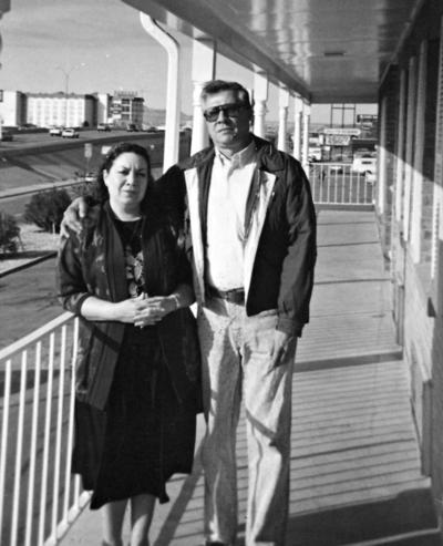 26022017 Lupita Ayala y Melchor Rodríguez en El Paso, Texas, en la década de los 90.