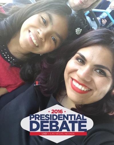 La joven activista utilizó todo su discurso para referirse al tema migratorio y defendió el papel de los más de 11 millones de indocumentados que hay en el país, y los valores que representan.