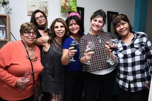 03032017 BRINDIS.  Blanca, Blanca, Rosy, Elizabeth, Juana y Margarita.